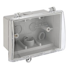 Clipsal 255 Weather Protective Box With Clear Lid And Locking Provision Grey