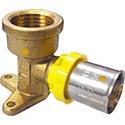 Bushpex Crimp Gas No.15BP Elbow 20mm X 15mm FI