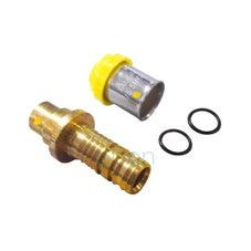 Bushpex Crimp Gas Connecting Barb Male 25mm X 25mm Cu