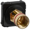 Clipsal Actassi Banana Connector Black - 30BCBM-BK