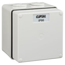 Clipsal 56Jb1Gy Junction Box Pvc Ip66 1G Grey