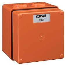 Clipsal - 56 Series 56 Series Junction Box - 1 Gang - Orange - 56JB1-RO