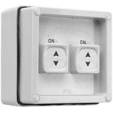 Clipsal - 56 Series 56 Series - Twin Sliding Switch - 1 Pole - 10A - 250V - Grey - 56SSW2/10-GY