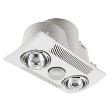 Airflow 6600Ads Ensuite Fan, Light And Heater With Backdraft Shutter 2X275W Heat Lamps White