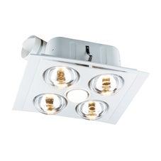 Clipsal 7500Atpwe Bathroom Combo Fan Light 4 Heat Ducted
