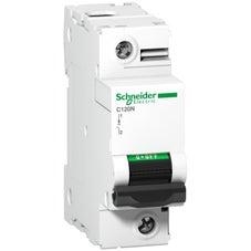 Clipsal Acti 9 C120 Miniature Circuit-Breaker, Acti9 C120N, 1P, 125 A, C Curve, 10000 A (Iec 60898-1), 10 Ka (Iec 60947-2) - A9N18359