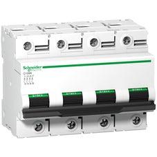 Clipsal Acti 9 C120 Miniature Circuit-Breaker, Acti9 C120N, 4P, 100 A, C Curve, 10000 A (Iec 60898-1), 10 Ka (Iec 60947-2) - A9N18374