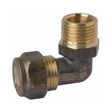 Brass Elbow Compression With Nylon Olive 15C x 15MI