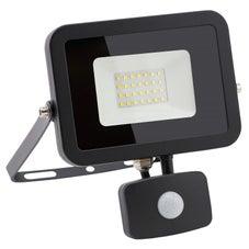 Clipsal - Lighting Floodlight Led, 20W, 4000K, 1800Lm, Black, With Sensor - CLITPFLS20SENLED