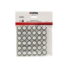 Clipsal Saturn Zen Button Label pack Zen White - 60ZPBC-ZW