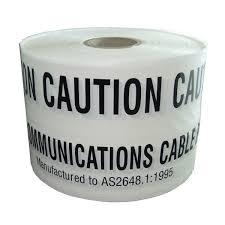Comms Underground Marking Tape 500M Wht
