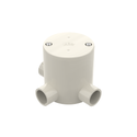 Junction Box Round Deep 3 Way 25Mm Grey