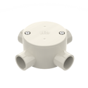 Junction Box Rnd Shallow 4Way 25Mm Grey