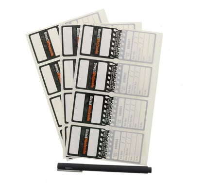 Self Laminating Test Tag Yearly Black 100 Pack