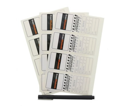 Self Laminating Test Tag White May/December Nsw Only 100 Pack