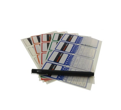 Self Laminating Test Tag Mixed Blue/Green/Orange/Red/White Nsw Only 100Pack