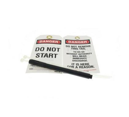 Danger Do Not Start Tag With Black Marker 5 Pack