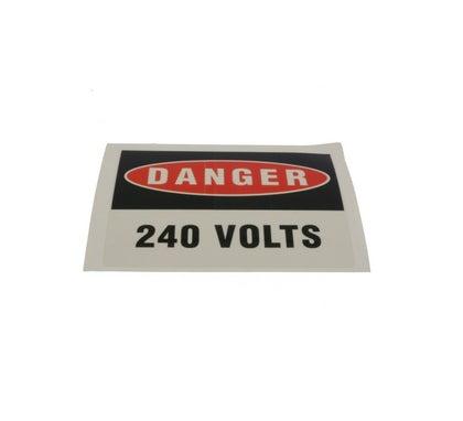 Heavy Duty Adhesive Vinyl Label Danger 240 Volts 110 X 90Mm 5 Pack