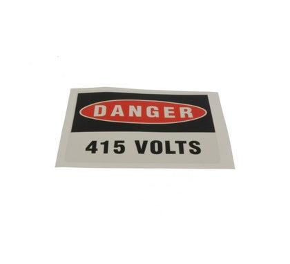 Heavy Duty Adhesive Vinyl Label Danger 415 Volts 110 X 90Mm 5 Pack
