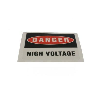 Heavy Duty Adhesive Vinyl Label Danger High Voltage 110 X 90Mm 5 Pack