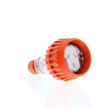 Extension Socket 3 Flat Pins 10A 250V Ip66 Orange Single Phase Gland Included