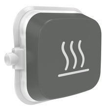 Clipsal Iconic E40Rh-Ag Rocker For Switch - Iconic Essence - Heat - Ash Grey - Pack Of 5