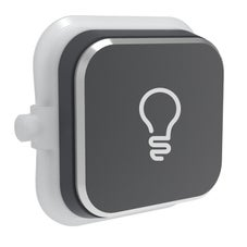 Clipsal Iconic S40Rl-Sh Rocker For Switch - Iconic Styl - Light - Silver Shadow - Pack Of 5