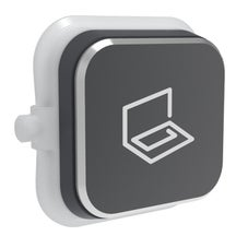 Clipsal Iconic S40Str-Sh Rocker For Switch - Iconic Styl - Study - Silver Shadow - Pack Of 5