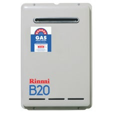 Rinnai B20N50 B20 Continuous Flow Hot Water System External Mount Preset 50deg Natural Gas