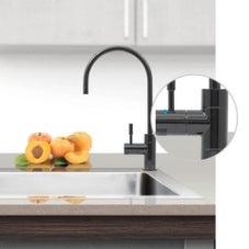 Puretec DFU220 Polished Black Designer Water Filter Faucet With LED Reminder Light