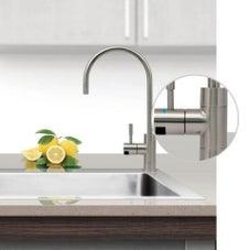 Puretec DFU240 Brushed Nickel Designer Water Filter Faucet With LED Reminder Light