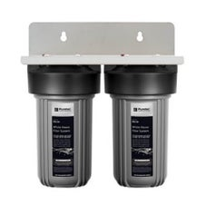 Puretec EM2-75 Dual 10' Whole House Rain & Mains Water Filter System 25mm Connections