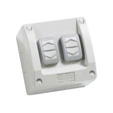Clipsal Ws226/2Rg Switch 2G W/Prf Ip66 16A 250V Res/Grey