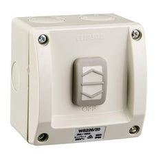 Clipsal Ws226/20Rg Switch 1G W/Prf Ip66 20A 250V Res/Grey